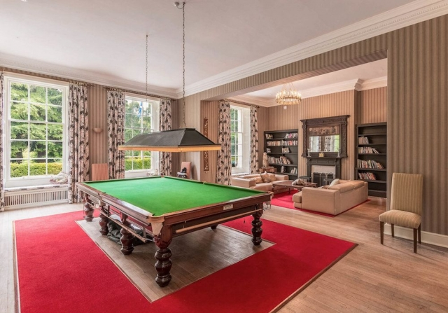 Billiard Room and Relaxing Area for Guests