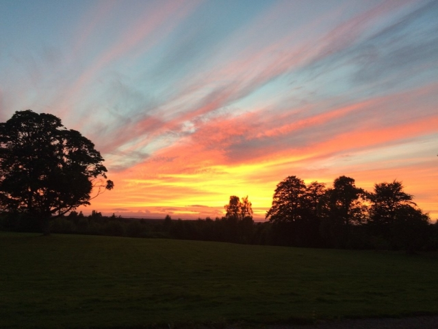 Sunset View at Blervie House