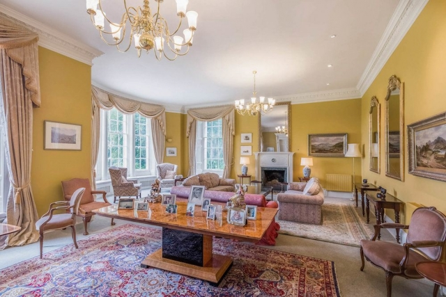Sitting room at Blervie House