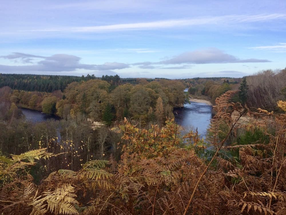 The River Findhorn is very close to Blervie House